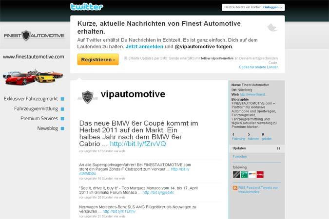 VIPAUTOMOTIVE und twitter