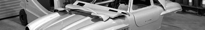 Mercedes-Benz zerstört nachgebaute Karosserie eines Mercedes-Bez 300 SL