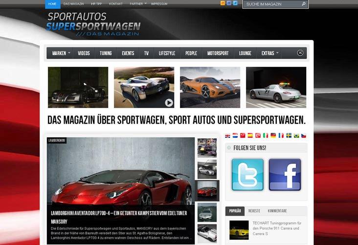 Online-Magazin für Sportwagenfahrer und Supersportwagenfans