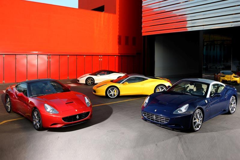 Ferrari Farben - Rot ist schon lange kein Standard mehr bei Ferrari