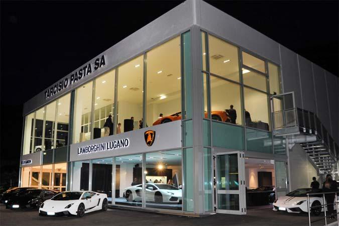 Lamborghini Lugano - Automobili Lamborghini eröffnet neues Autohaus in der Schweiz