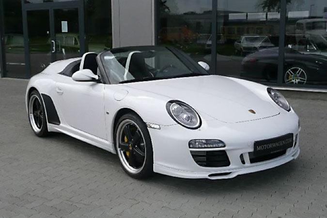 Neuer weißer Porsche 997 Speedster mit Vollausstattung