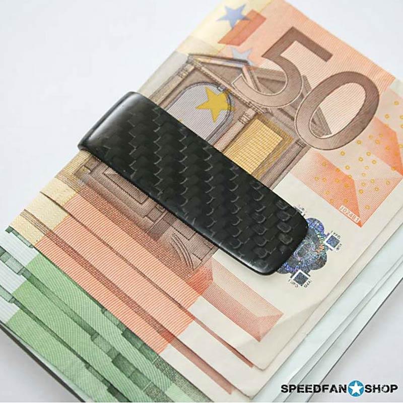 Geldscheinklammer aus Carbon als Geschenkidee