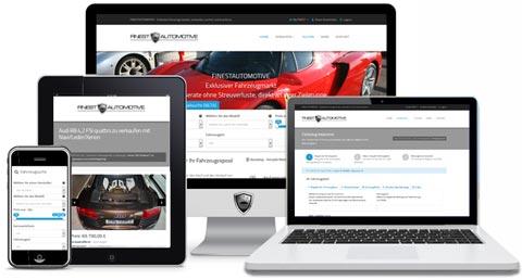 Fahrzeugmarkt mobil auf Tablet, Notebook, Smartphone und PC