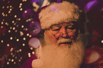 Santa Claus fährt Lamborghini