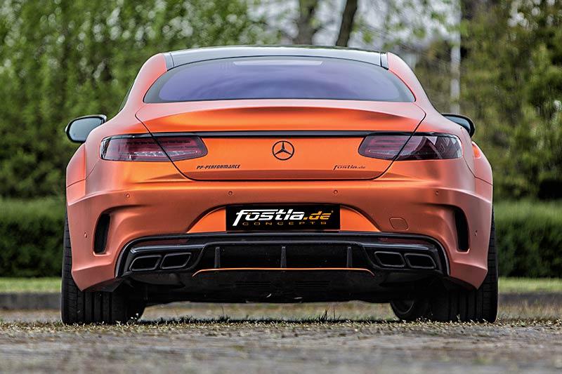 Voluminöses Heck des getunten Mercedes-Benz S 63 AMG