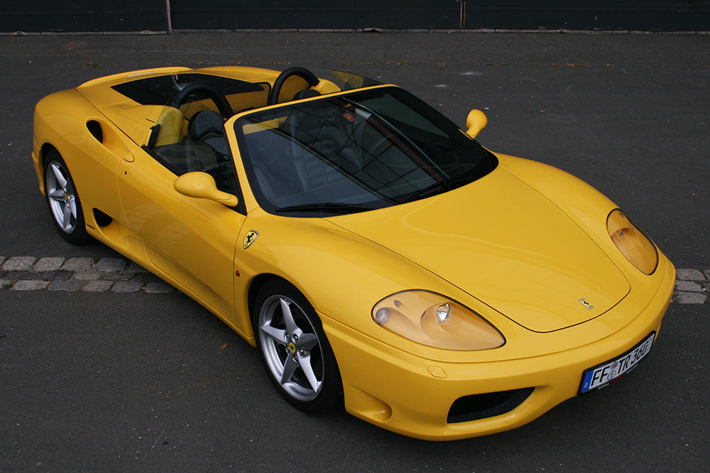 ferrari 360 modena f1 spider in giallo modena kaufen. Black Bedroom Furniture Sets. Home Design Ideas