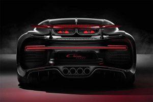 Die Heckpartie des Bugatti Chiron Sport