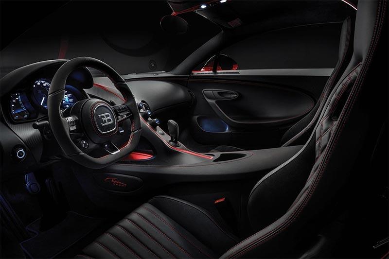 Das Interieur des Bugatti Chiron
