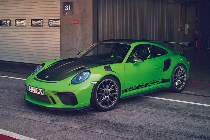 Kurz vor der schnellsten Runde, der Porsche 911 GT3 RS