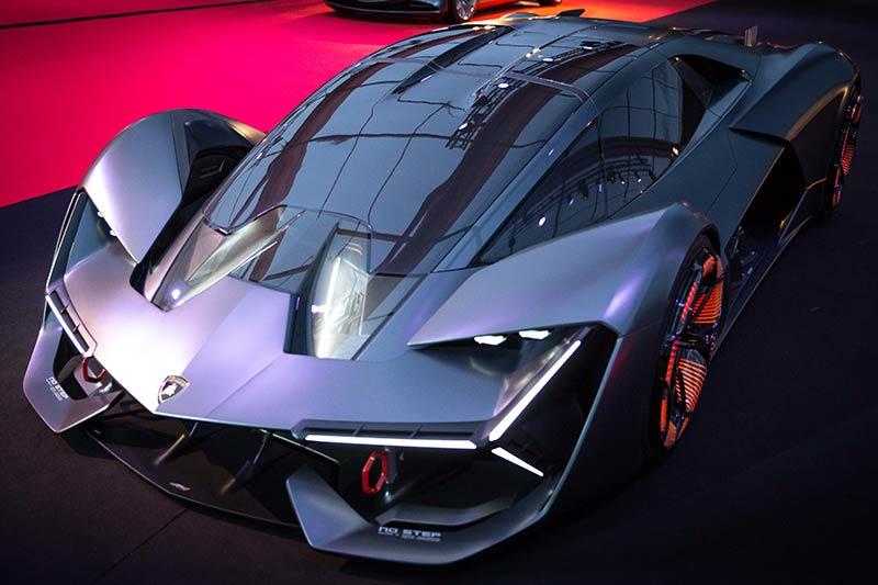 Der Lamborghini Terzo Millennio, das Designkonzept eines möglichen elektrischen Lamborghini Supersportwagens der Zukunft