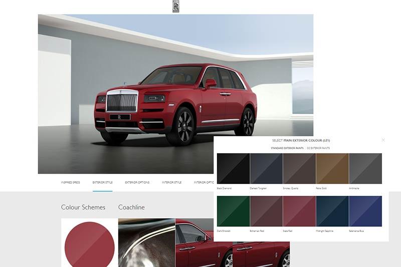 Insgesamt stehen beim Rolls-Royce Cullinan 15 Farben zur Auswahl