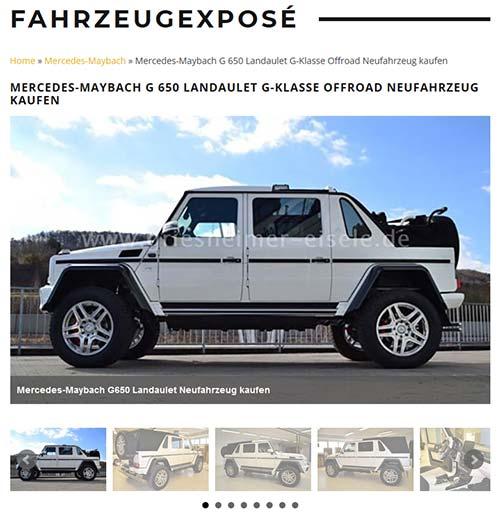 Referenzexposé Mercedes-Maybach