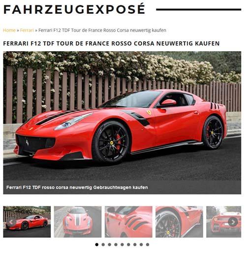 Referenzexposé Ferrari