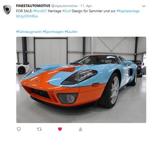Referenz Social Media Ford GT