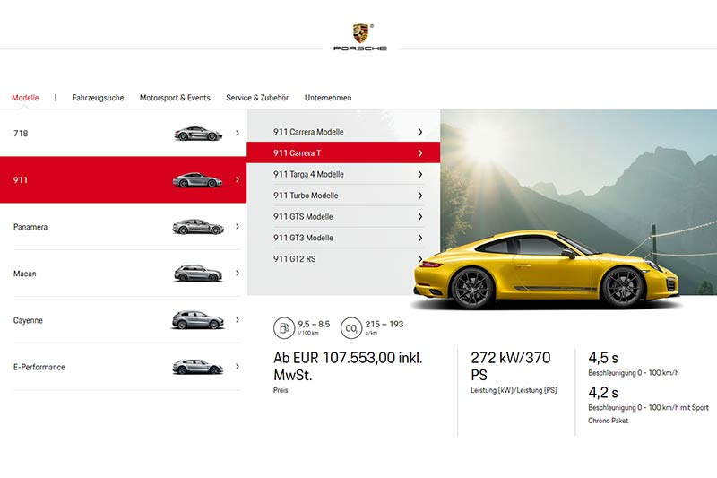 Porsche 911 Unterschiede