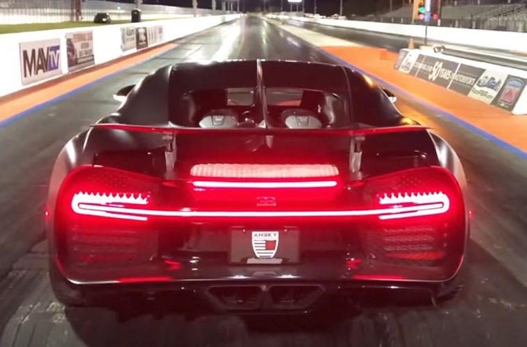 Drag Race Bugatti Chiron