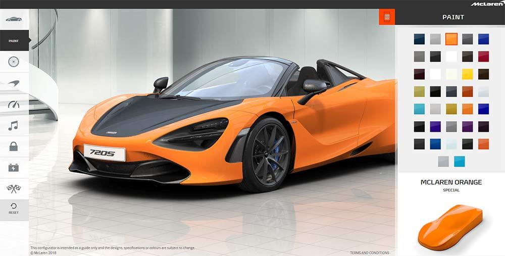 McLaren 720S Online Konfigurator