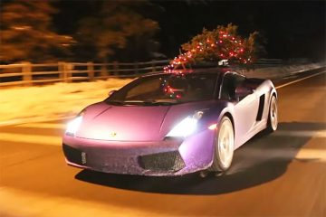 Lamborghini Weihnachstbaumtransporter