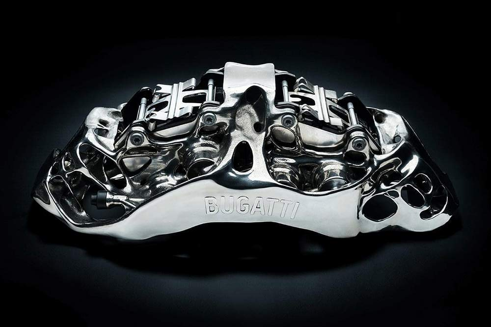 Bugatti Chiron Bremssattel aus Titan