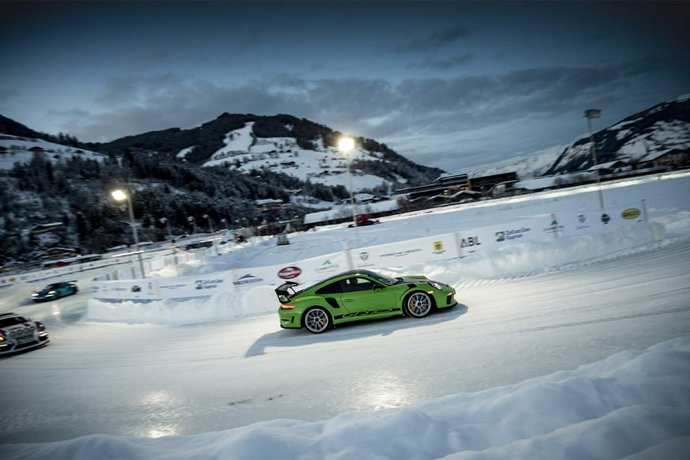Porsche 911 GT3 RS beim GP Ice Race in Zell am See