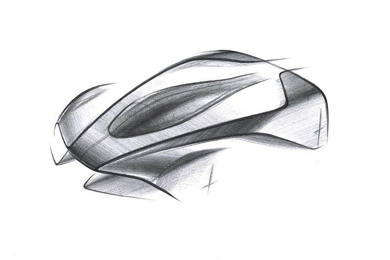 Aston Martin Project 003 Hypercar - Skizze