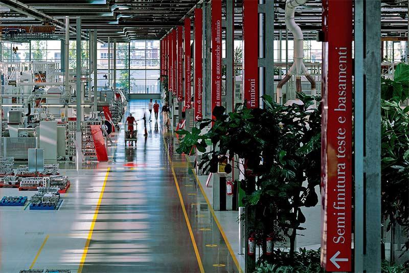 Ferrari Fertigungshallen in Maranello
