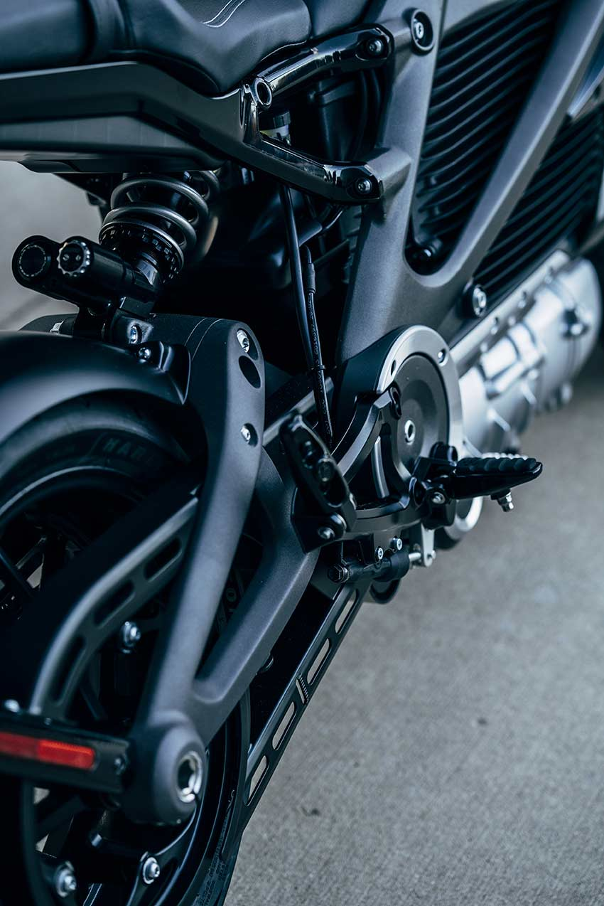 Harley Davidson LiveWire Elektromotorrad mit Zahnriemenantrieb