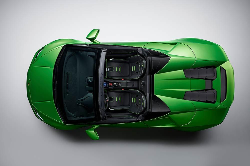 Lamborghini Huracan Evo Spyder von oben