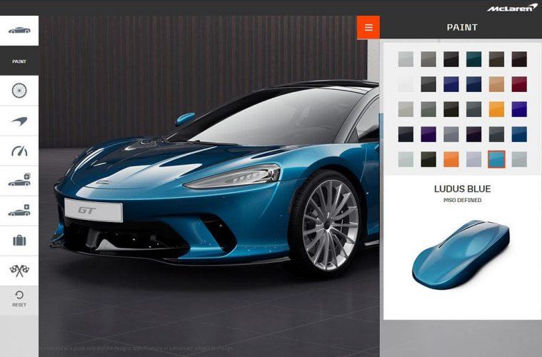 Onlinekonfigurator McLaren GT