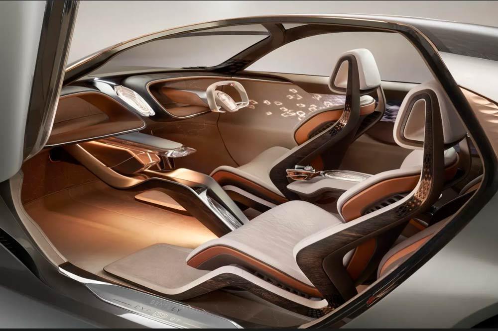 Das Interieur der Elektro-Luxuslimousine