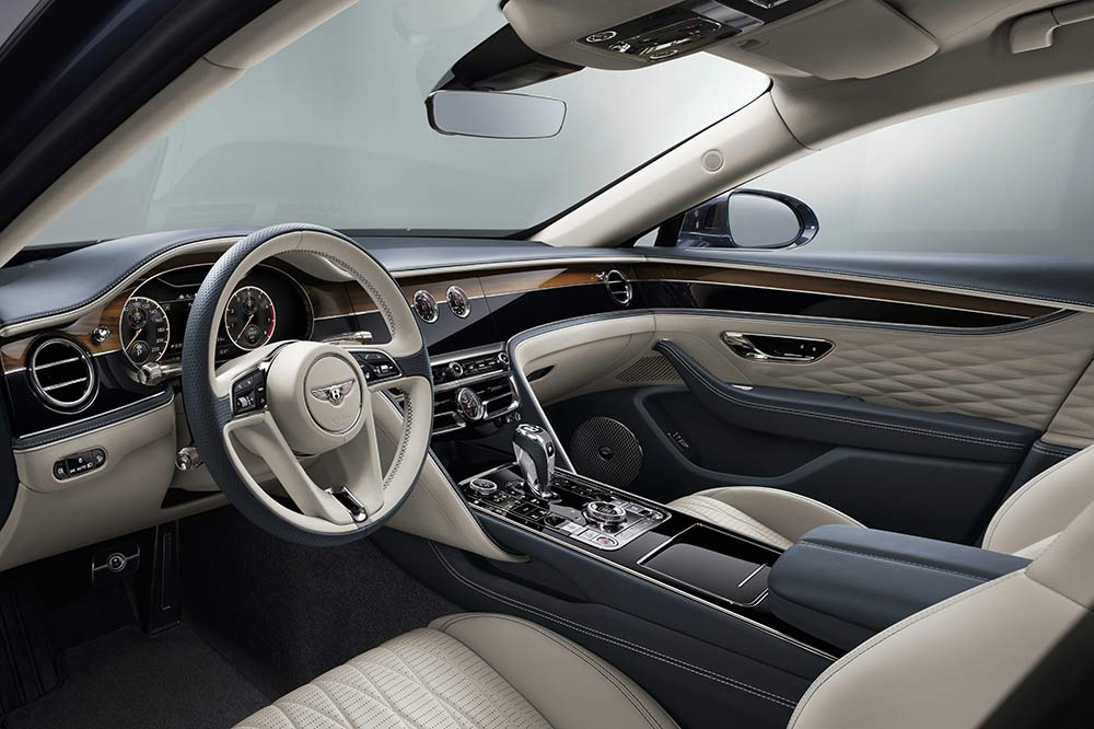 Das edle Interieur des Bentley Flying Spur