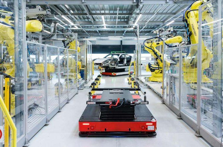 Produktion Porsche Taycan