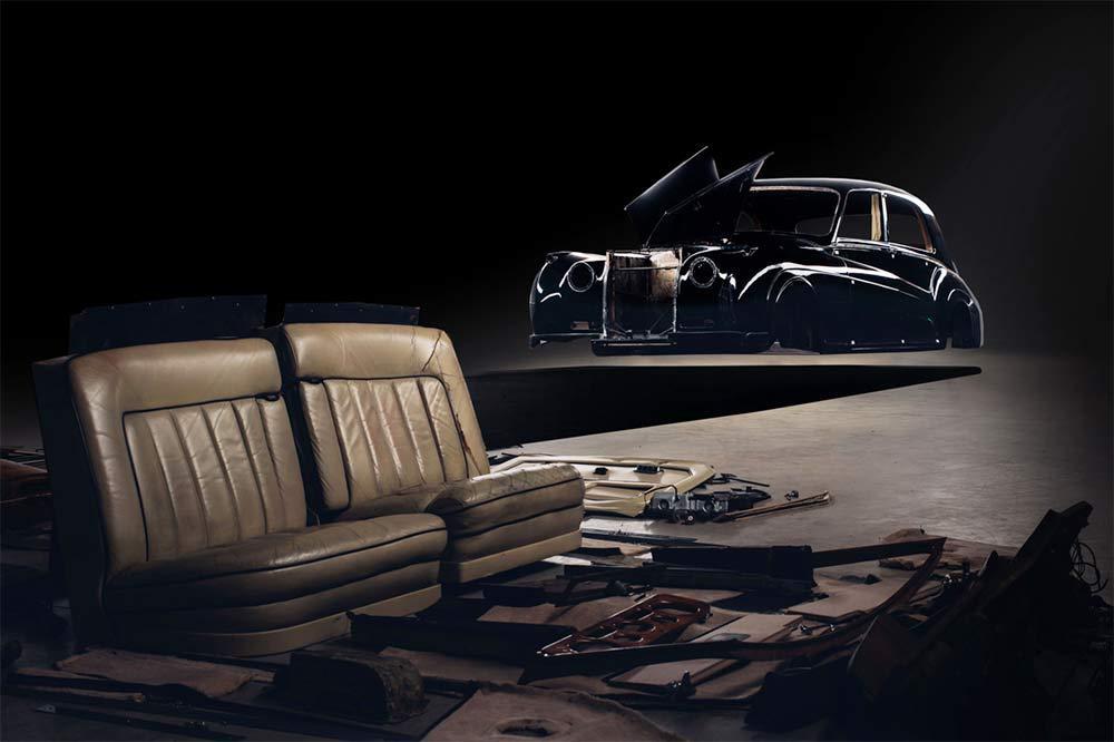 Rolls-Roye Karosserie fertig für den Elektro-Umbau