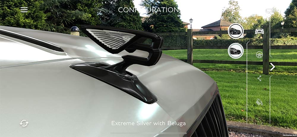 Das Bentley Flying B Emblem virtuell auf dem mobilen Endgerät erkunden