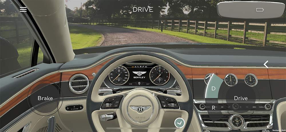 Virtuelle Probefahrt im Flying Spur mit der Bentley-App