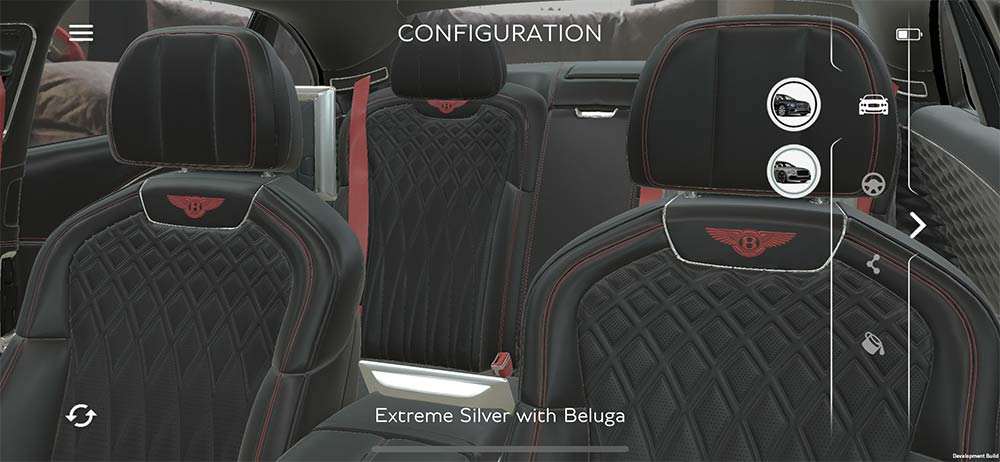 Extreme Silver mit Beluga - Virtuell im Innenraum des Flying Spur Platz nehmen