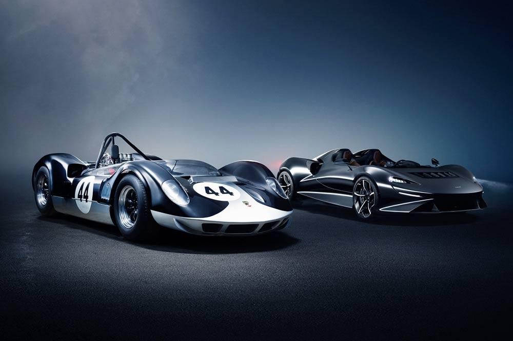 Der McLaren Elva und sein Namensgeber der McLaren-Elva M1A