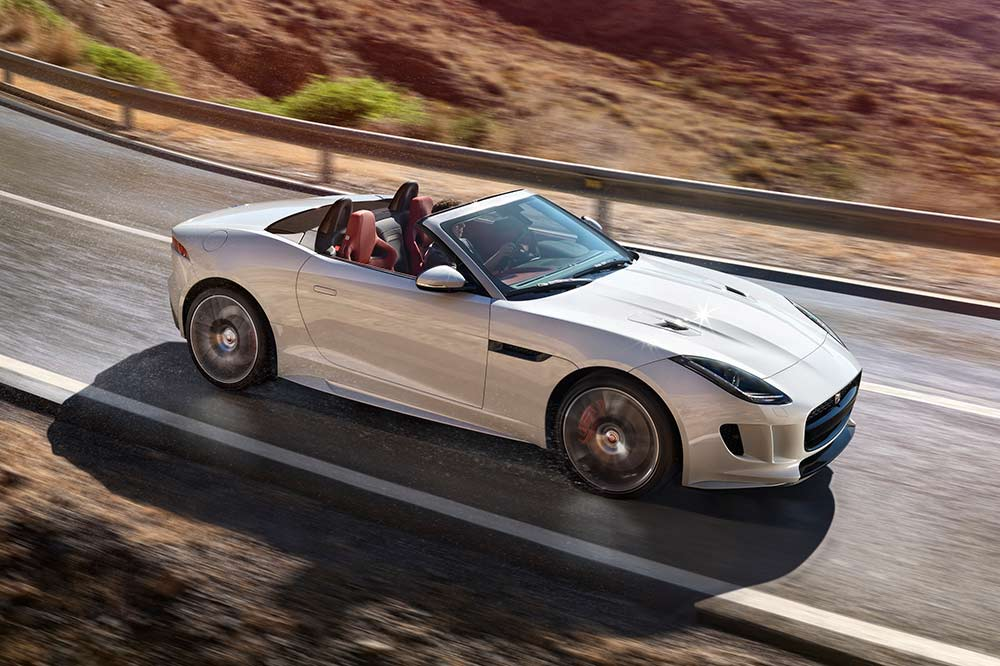 Frühlingsfeeling im Jaguar F-Type Cabrio