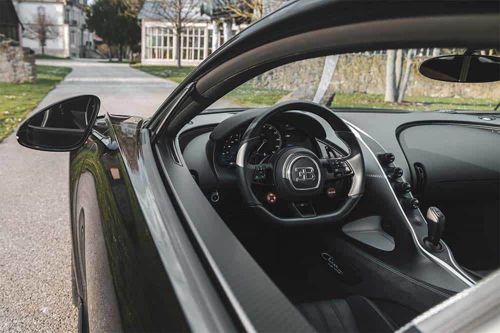 Ein Blick in den Innenraum des Bugatti Chiron Pur Sport