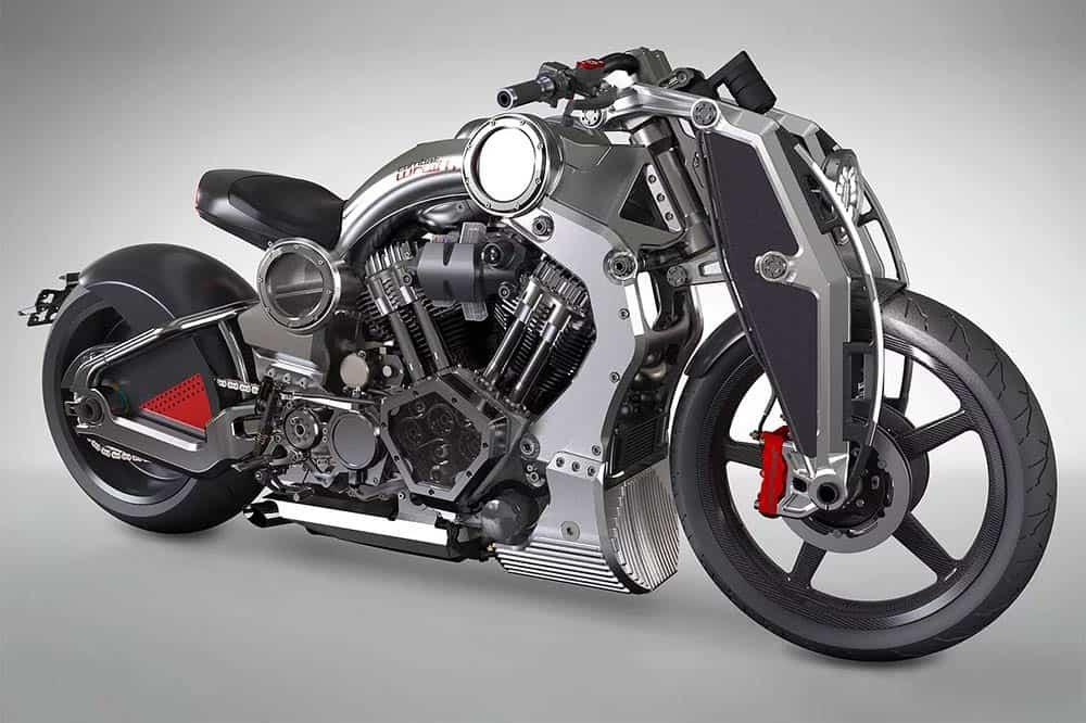 Das Custombike ist aus massiven Aluminiumteilen von Hand gefertigt
