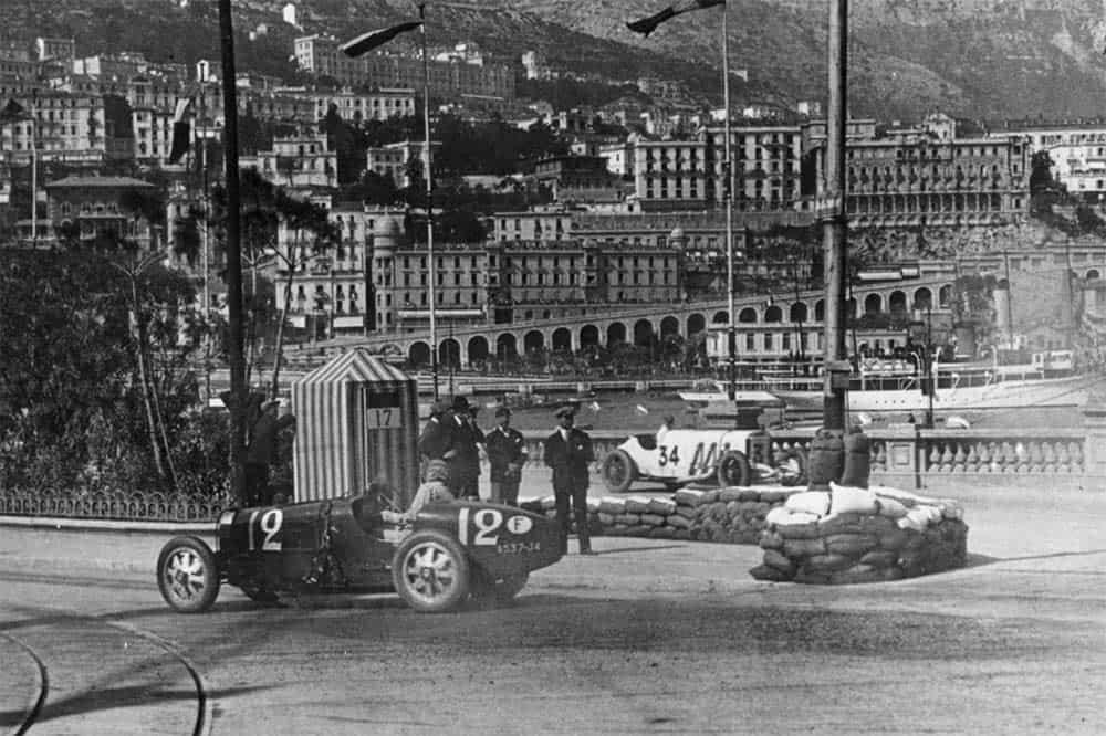 Bugatti siegt beim Grand Prix von Monaco mit seinem Stadtkurs